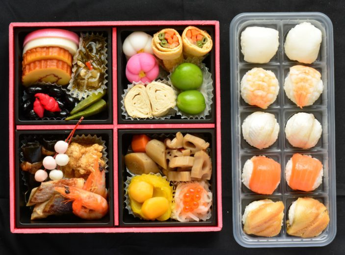 一段重おせち「彩華」と手まり寿司(5種)セット