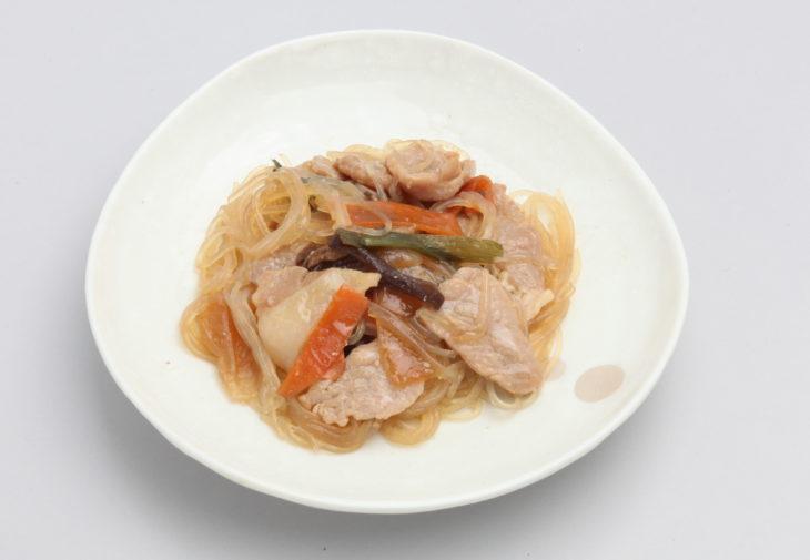 春雨と豚肉のしょうゆ炒め