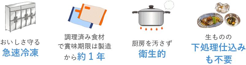完全調理済み冷凍食材のメリット